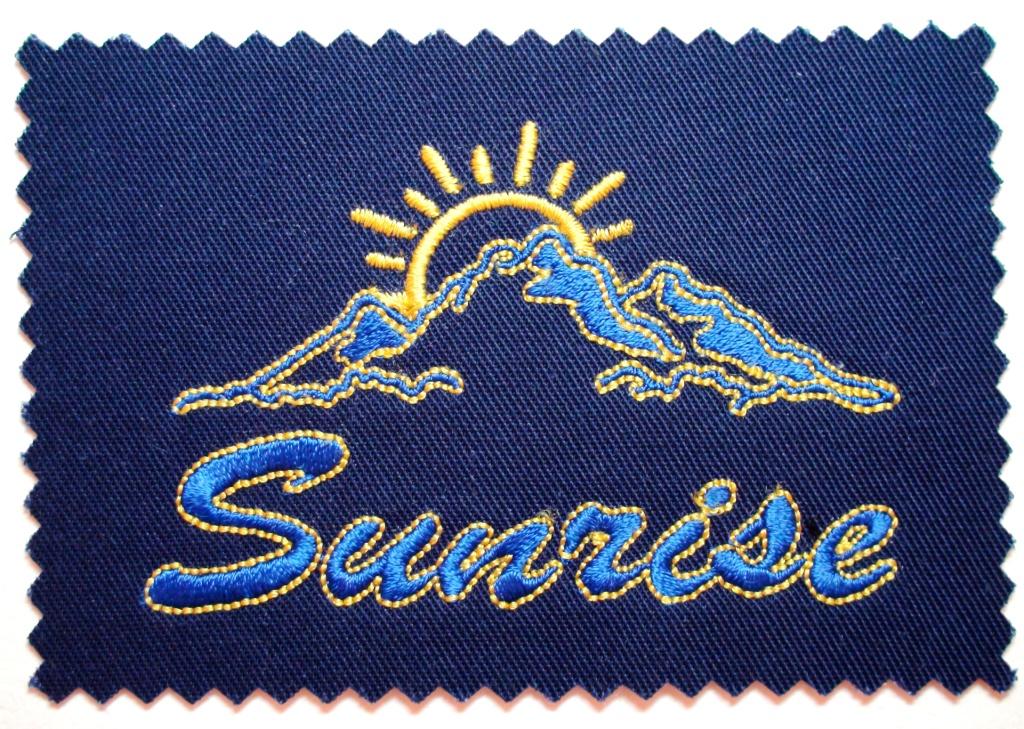 Вышивка логотипа ткани спб